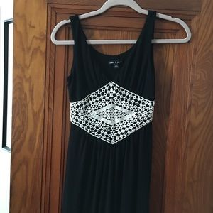 Cable & Gauge Sexy Boho Maxi Dress Black XS $78